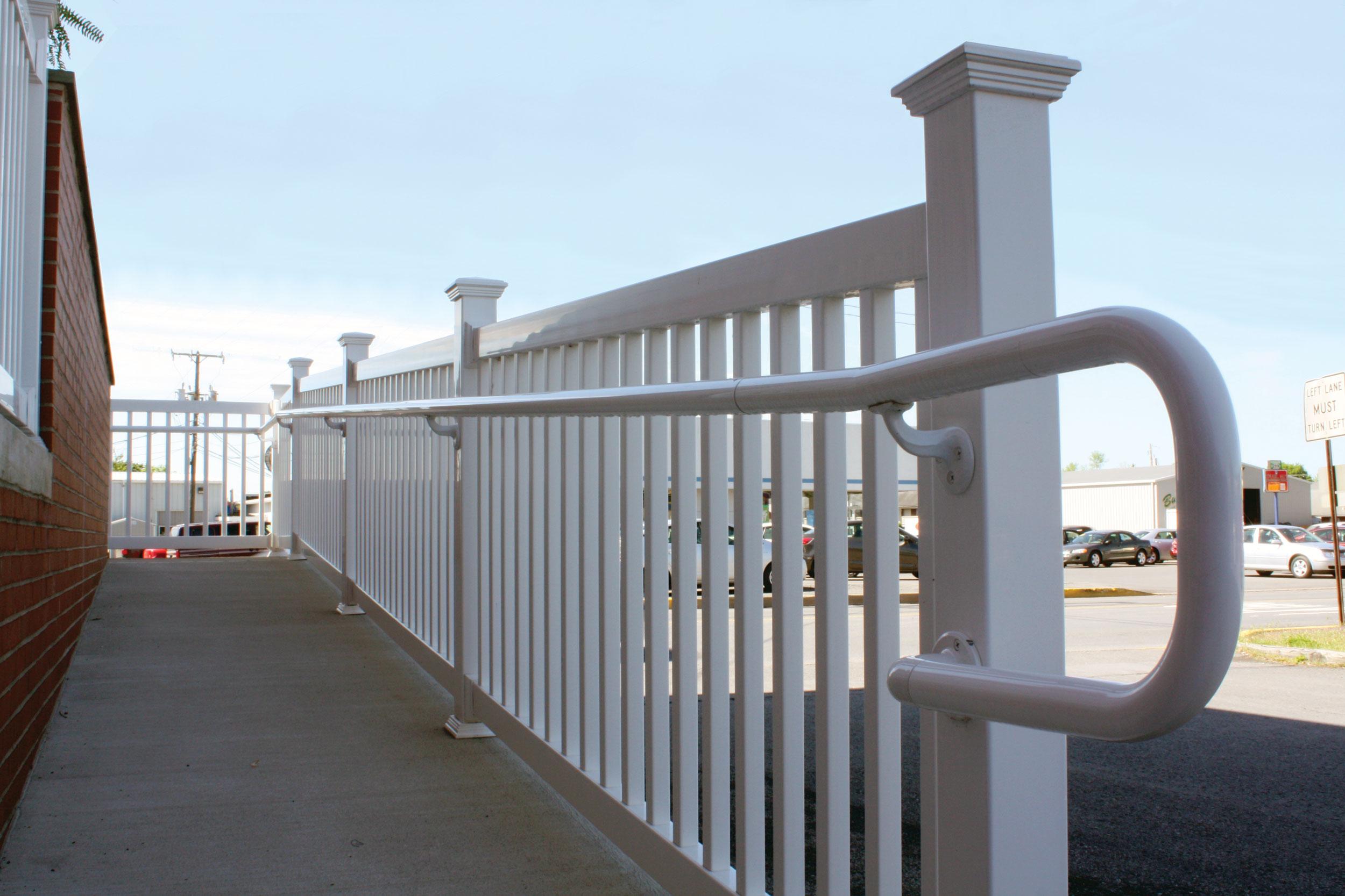 2 Quot Vinyl Ada Handrailing Fairway Architectural Railing
